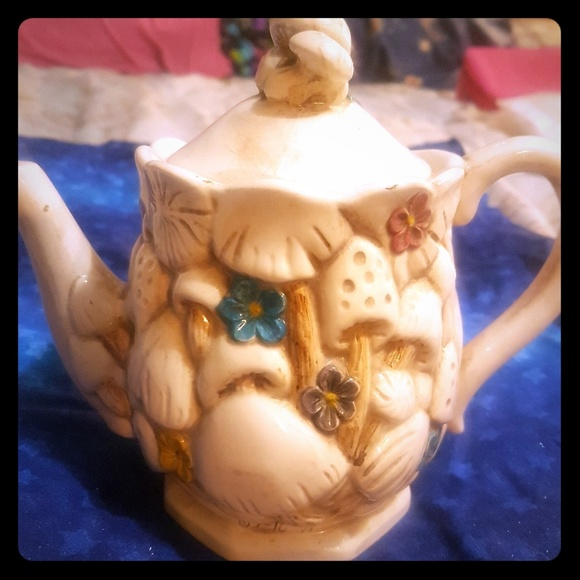 handmade Other - Vintage gorgeous mushroom teapot